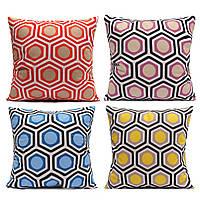Красочные геометрические дуплексной печати бросить наволочки мягкие лавсан домашнего дивана подушку чехол