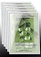 Фоторамки купить оптом, рамка пластиковая для фото А3 (29,7х42) для дипломов, сертификатов, грамот, белая, фото 1