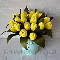 """Корзина с цветами из конфет """"Тюльпаны"""", фото 3"""