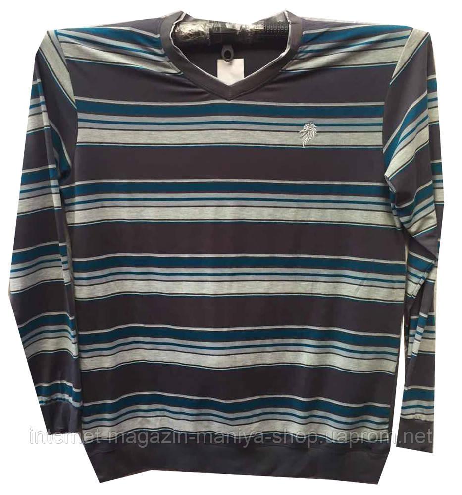 Пуловер мужской полоска батал (деми)