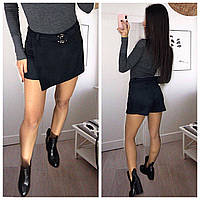 Юбка шорты женские замш