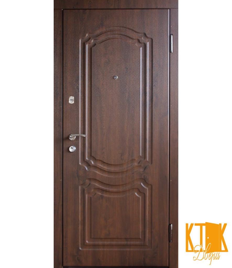 """Вхідні двері серії Стандарт ПВХ """"Класик"""" (темний горіх)"""
