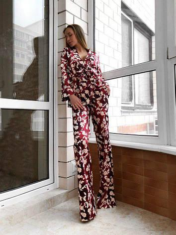 Женский Костюм с принтом в пижамном стиле. , фото 2