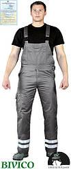 Защитные брюки на лямках с двумя светоотражающими полосами Vizlite LH-BISTER_X S