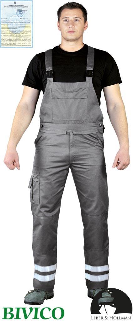 Захисні штани на лямках з двома світловідбиваючими смугами Vizlite LH-BISTER_X S