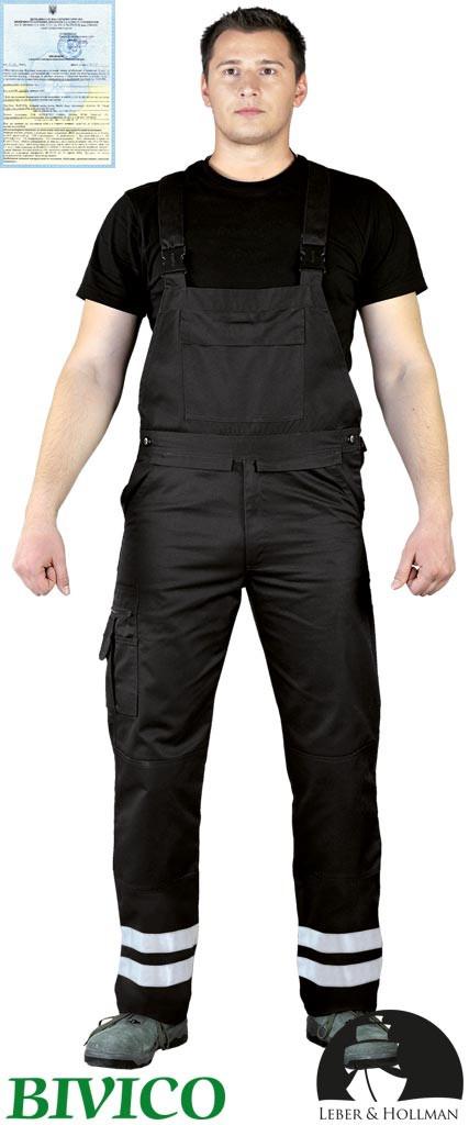 Захисні штани на лямках з двома світловідбиваючими смугами Vizlite LH-BISTER_X B
