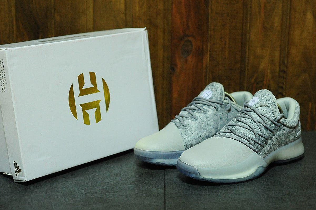 bfd31544 Кроссовки мужские Adidas Harden Vol. 1 белые топ реплика - Интернет-магазин  обуви и