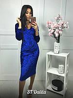 Платье бархатное (3 цвета), фото 1