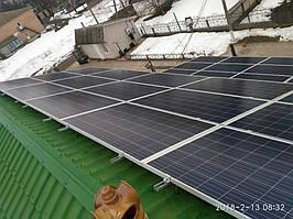Монтаж солнечных панелей JA SOLAR JAP6 60-265 W на скатную крышу