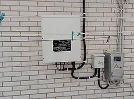 Монтаж сетевого солнечного инвертора Huawei SUN2000-17KTL
