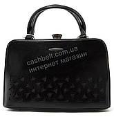 Каркасная кожаная стильная прочная элегантная женская сумка GERNAS art. G-173017 черная