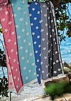 Полотенце Barine Pestemal Stars 90*160 голубое