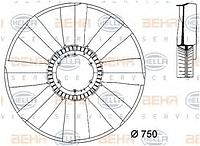 Крыльчатка вентилятора радиатора MERCEDES Actros 0032050106, HELLA