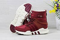 Adidas Equipment. Нубук Мех 100% Бордовые