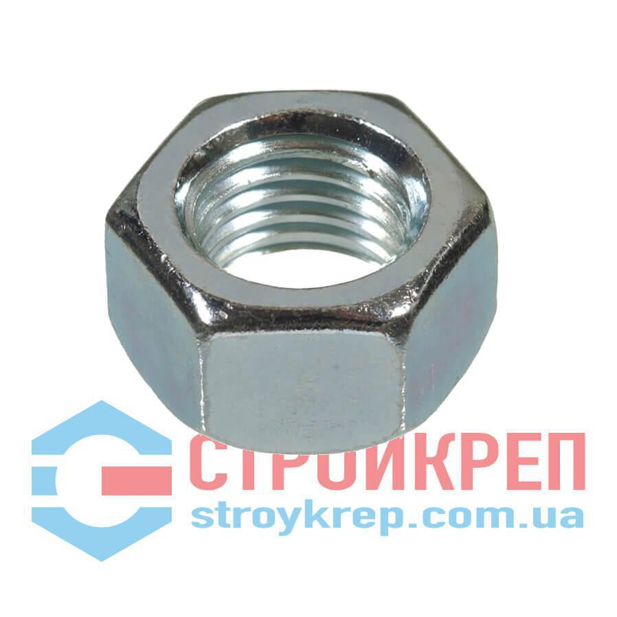 Гайка шестигранная DIN 934, класс прочности 8, цинк, М12