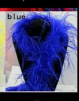 Боа из страусовых перьев. 2метра. Синий.