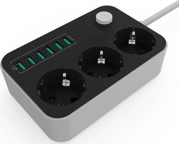 Удленитель Lonio 6USB 3power socket