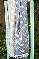 Полотенце Barine Pestemal Starfish 100*180 синее