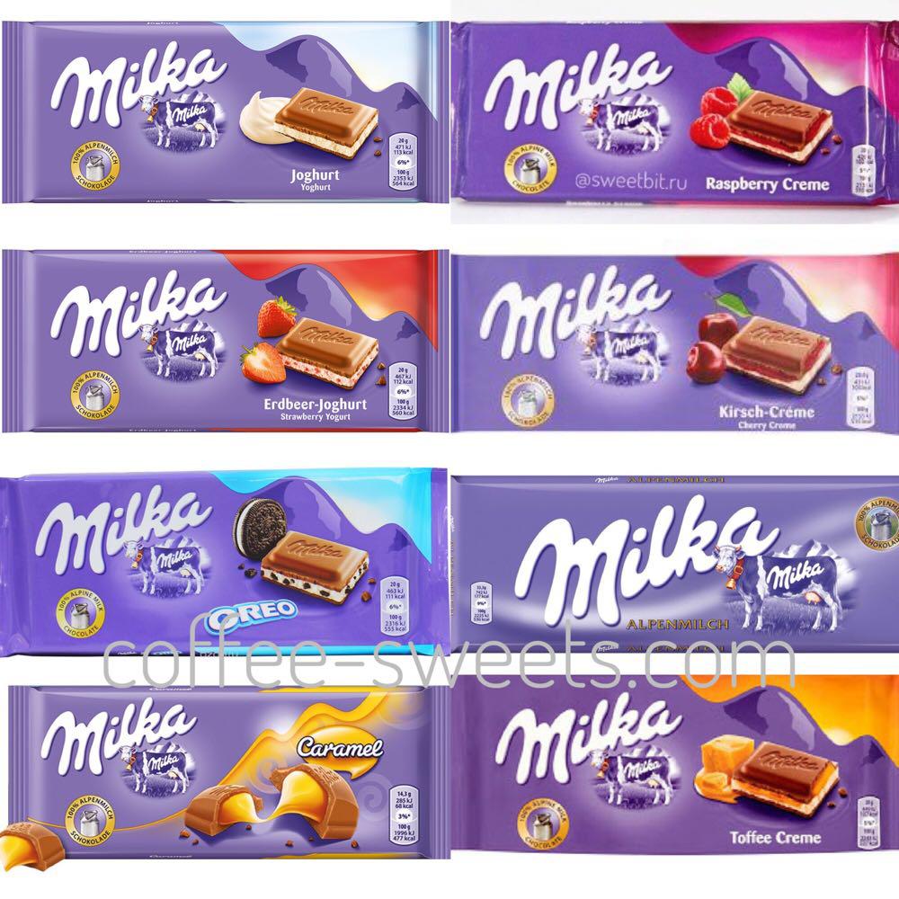 Шоколад Milka 100g в ассортименте