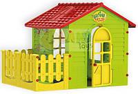 Детский игровой домик Mochtoys с террасой для детей (дитячий ігровий будиночок з терасою для дітей)