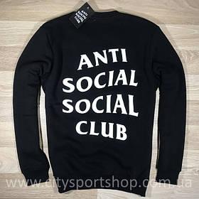 """Свитшот с принтом A.S.S.C.""""Anti Social social club""""   мужской черный"""