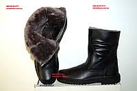 Тигина 4001 Мужские  зимние сапоги  из натуральной кожи на меху коллекция 2017-2018
