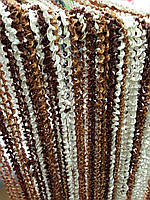 Нити-спирали трехцветные темнокоричневый с карамельным, фото 1