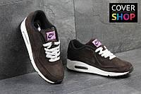 Мужские кроссовки Nike Air Max 87, коричневые, материал - замша, подошва - пенка