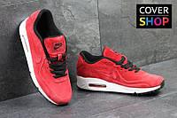 Мужские кроссовки Nike Air Max 87, бордовые, материал - замша, подошва - пенка