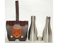 F1-33 Набор в чехле: 2 фляги в форме бутылки, Фляги 250 мл (каждая), Фляга для спиртных напитков
