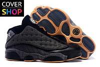 Кроссовки мужские Nike Air Jordan 13 - Dark Grey, материал - кожа+замша+текстиль, подошва - пенка