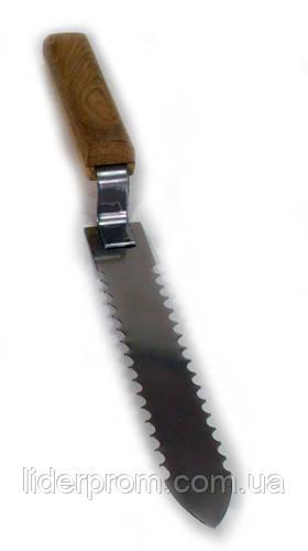 Нож пасечника зубчатый .Нержавейка.