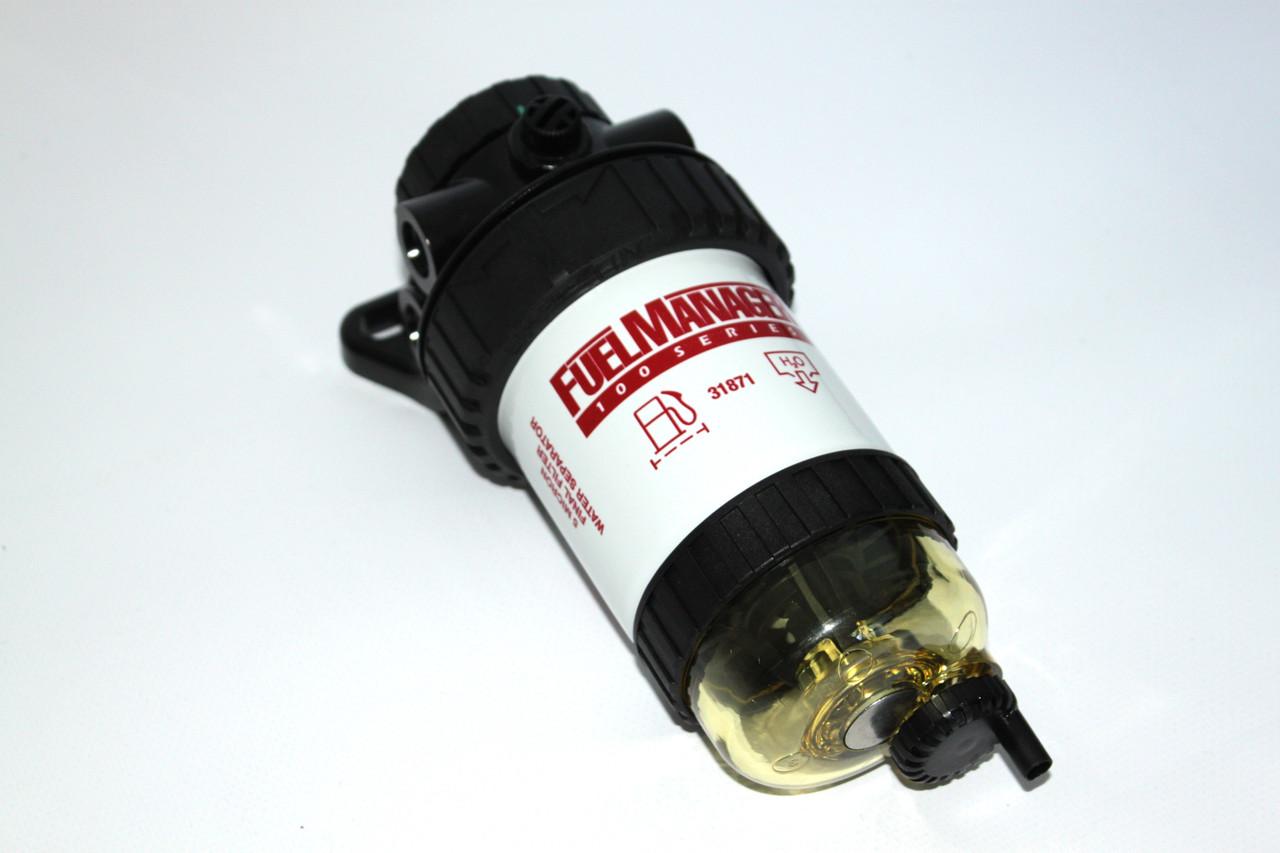 Сепаратор дизельного топлива в сборе Stanadyne Fuel Manager FM100 с чашей сбора воды и фильтром 5 микрон