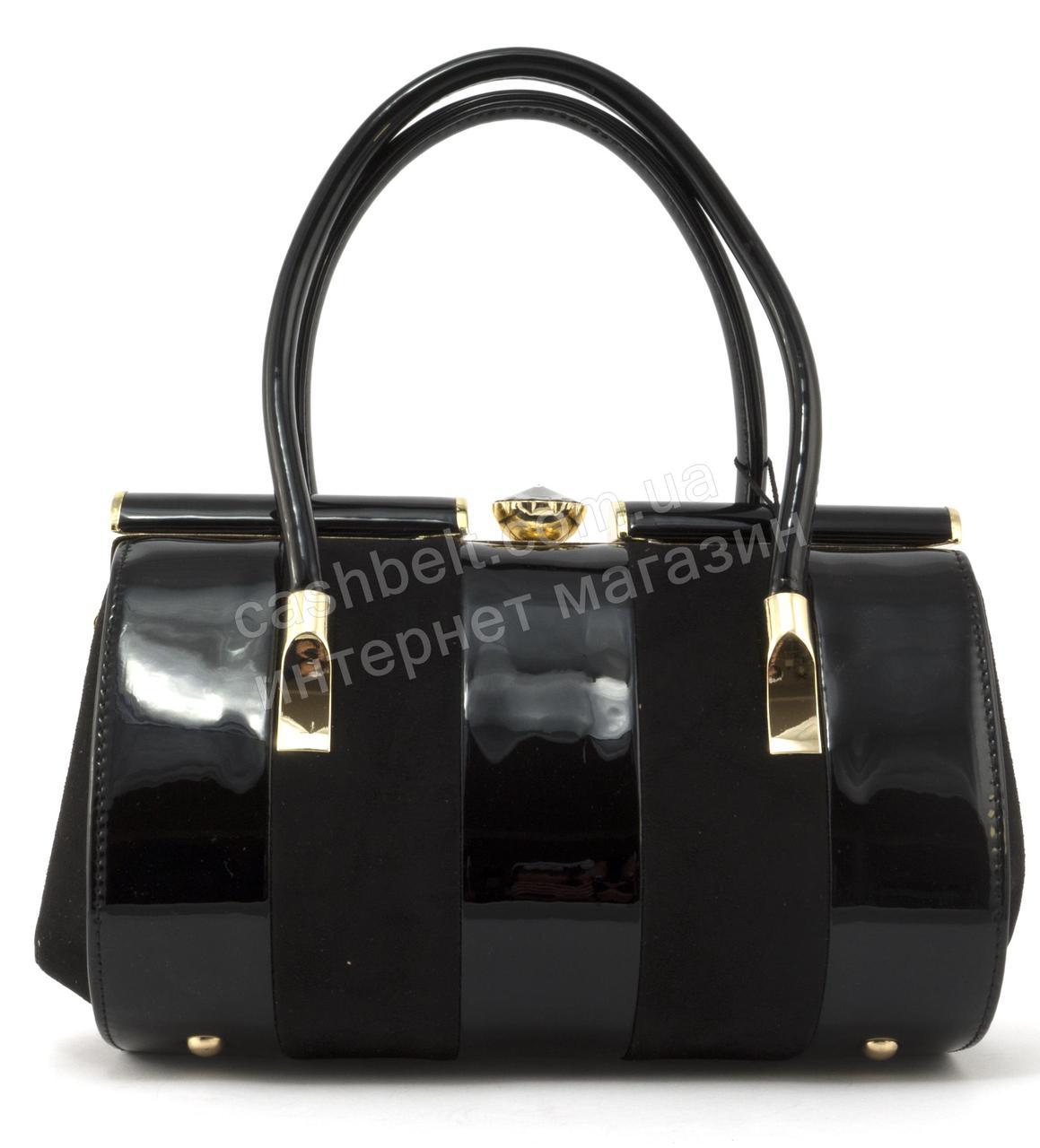 a9069ff24f1c Элитная очень стильная небольшая качественная лаковая сумка SULIYA art.  K-916 черная