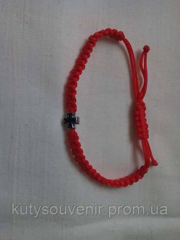 Браслет шамбала из красной ниткою Крестик, фото 2