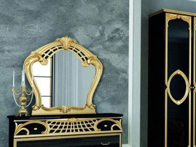 Дзеркало на стіну з ДСП/МДФ у вітальню спальню Реджина Чорна Миро-Марк