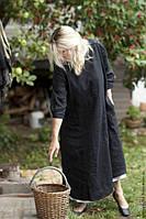 Дизайнерское платье из льна, в стиле бохо, свободное с карманами. Любой размер, любой цвет, фото 1