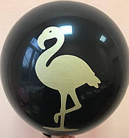 """Воздушные шары Фламинго шелкография 12"""" (30 см)"""