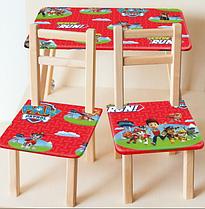 """Деревянный столик со стульчиками M 2756 """"Щенячий патруль"""""""