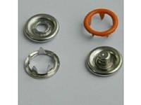 Кнопка трикотажная беби кольцо (bebi) (1440 шт) № 158 ярко оранжевая