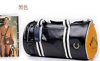 Спортивная сумка Fred Perry.Мужская сумка через плечо.Сумка для спорта.Сумка барабан.Кожаная сумка. Код:КСС1-1