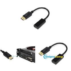 Переходник кабель DisplayPort (male) - HDMI (female) 10см