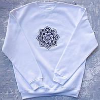 Мандала Богатства, вышивка, свитшот унисекс, высокое качество, JH, Испания, размеры XS - 3XL