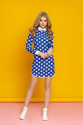 Платье с рубашечным отложным воротником, фото 2
