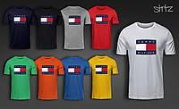 Мужская хлопковая футболка Tommy Hilfiger 2, Реплика