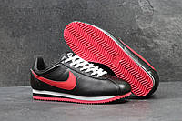 Кроссовки женские Nike Cortez SD1-4036 Черные с красным