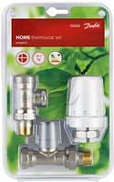 Радиаторный комплект термостатических кранов Danfoss RTW /RA-FN/RLV-S, DN15 прямой RA-FN
