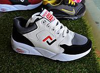 Женские кроссовки белые с черной замшевой вставкой