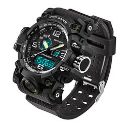 Мужские спортивные часы Sanda 742 Black диам 54 мм