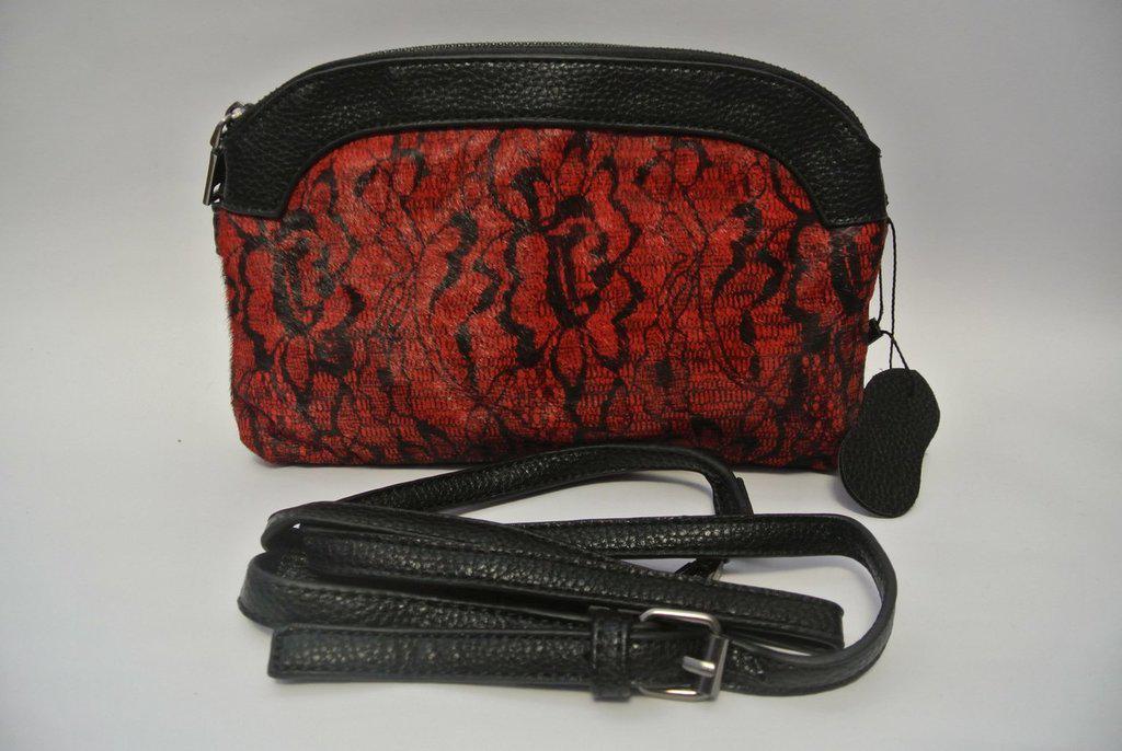 Женская сумка/ Клатч из Меха Пони/ PU кожа